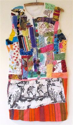 Quilting Scraps Wearable FOLK ART Fabric COLLAGE Clothing Altered Couture MyBonny