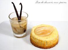 Hier soir c'est Monsieur qui a oeuvré en cuisine et qui a réalisé ce joli duo de desserts. Ingrédients pour 6-personnes : Pour les poires au vin d'épices : – 4 poires – 1 c. à soupe de jus de citron – 50cl de vin blanc liquoreux – 100g de sucre en poudre – 1La recette...