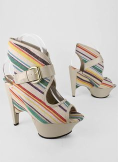 """canvas striped bootie $36.30... One day I will have a """"shoe fund"""""""