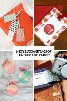14 DIY Luggage Tags Of Leather And Fabric | Shelterness