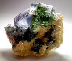 Fluorite and Muscovite - Erongo Mtns., Namibia