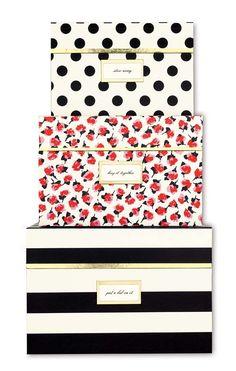 Kate Spade - Nesting Boxes - Black Stripe