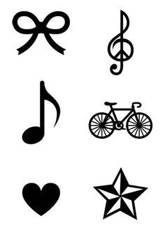 Mini Black Temporary Tattoos Group 12