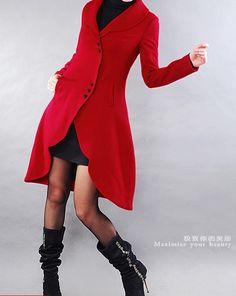 wool coat, etsy seller xiaolizi $110.00
