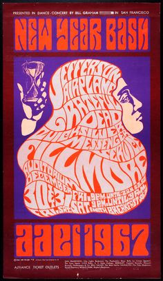 Concert at the Fillmore Auditorium .... Jefferson Airplane .... Grateful Dead .... Quicksilver Messenger Service ...☮