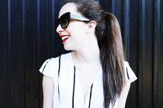 1100Days: Designer Fashion Oversize Cat Eye Sunglasses 8300