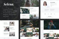 Portfolio & Personal Website HTML Template Html Website Templates, Header Image, Social Icons, Creative Portfolio, Wordpress Theme, Selena, Recipe, Cooking, Free