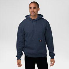 Dickies Men's Big & Tall Midweight Fleece Pullover Hoodie- Dark Navy Xxxl Tall