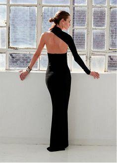 Fabulous Spandex One Shoulder Neckline Sheath Evening Dresses