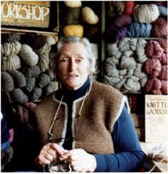 Elizabeth Zimmerman - the queen of knitting.  Her knitting camp was my first knitting class...