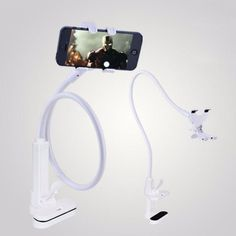 2016 NEW Universal Flexible Long Arms Cell Phone Clip Holder Stand with Sitck-On Car Mount YYH# free shipping nice