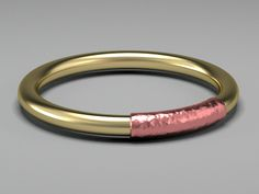 The Ring by MB. 14 carat gold with hammered 18 carat rose gold band. The Ring is only going to be produced in a small series of 10 pieces in each color.