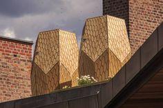 grande ruche en bois design en ville