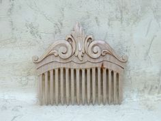 Wooden comb hair,Hair accessories of wood,  Wood carving.