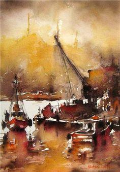 watercolor artist Burhan Özer