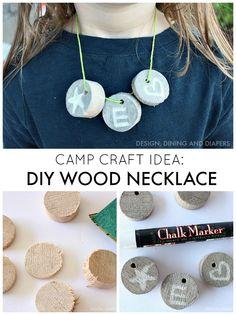 Camp Craft Idea - DIY Wood Necklace -- Tatertots and Jello
