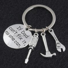 Buy Father's Day Gift If Dad Can''t Fix It No One Can Keychain Men Jewelry Fashion Keyring Key Chain Holder Family Dad Father Love Souvenirs Presents at Wish - Shopping Made Fun Keychain Tools, Father Birthday, Love Dad, Meaningful Gifts, Gifts For Father, Daddy Gifts, Key Rings, Jewelry Gifts, Dads