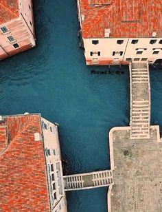 Water cross in Venice, Italy
