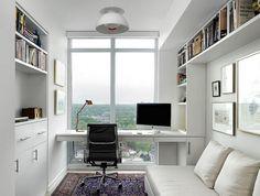 Bureau dans chambre scandinave