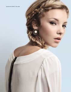love the imperfect fishtail braid. wish i could do it myself...guess i'll have to break down and go to the braid bar