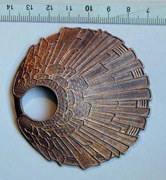 Estampe vintage en cuivre de style art déco pour la création de bijoux par Piquependre sur Etsy.com