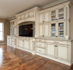 This is EXACTLY what I want in my living room- Gorgeous Built in Entertainment center by shannon