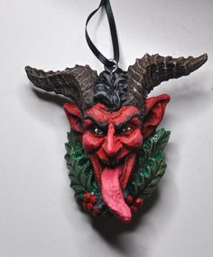 Krampus Head Ornament