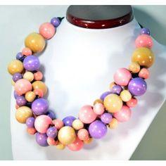 Korale drewniane zwarte RÓŻANE Raj, Pearl Necklace, Beaded Necklace, Pearls, House, Jewelry, String Of Pearls, Beaded Collar, Jewlery