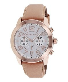 Take a look at this Beige Mercer Chronograph Watch - Women by Michael Kors on #zulily today!