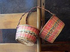 2 Vintage Easter Baskets / Woven Baskets / by EitherOrFinds, $15.00