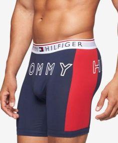Navy Dolce /& Gabbana Crowns Stripe Logo Mens Stretch Boxer Trunk
