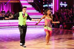 Christina Milian & Mark Ballas dance the Cha Cha Cha  They received 28 out of 30pts.
