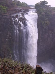 Victoria Fälle in Sambia Waterfall, Africa, Places, Travel, Outdoor, Cruises, Travel Destinations, Outdoors, Viajes