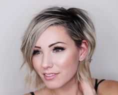 short blonde hair pixie bob @chloenbrown