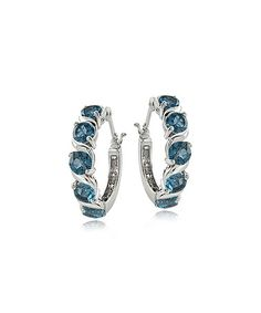 Another great find on #zulily! London Blue Topaz Hoop Earrings #zulilyfinds