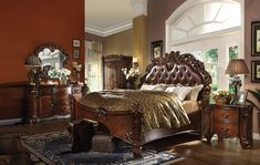 Give your bedroom a luxurious look with the Acme Furniture Vendome Panel Bed . This panel bed features an ornate design with molding trim and exquisite. 5 Piece Bedroom Set, Bedroom Sets, Bedroom Decor, Bedrooms, Discount Bedroom Furniture, Grey Bedroom Furniture, Best Bedroom Colors, Bedroom Color Schemes, Queen Bedroom