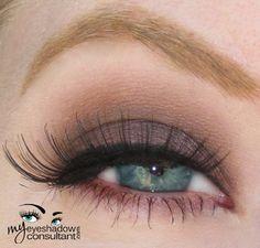 MAC eyeshadows used: Brown Down (on lid, below crease), Kid (crease), Vanilla (blend). #Eye #makeup inspiration