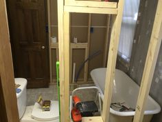 Adding built in cubby to have long mirror as the door
