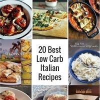 A collection of the best low carb italian recipes I could find on Pinterest! All of your favorites made over to be keto, lchf, and Atkins diet friendly!