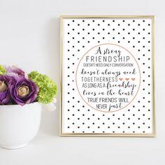 Friendship Printable, Best Friend Gift, Going Away Gift, Wall Art, Birthday Gifts, Gallery Wall Art, Friends