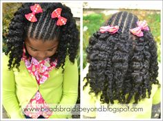 Beads, Braids and Beyond: Natural Hair Styles for Little Girls: Cornrows & Twist Out - Flat Twists & Twist Out#