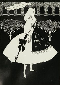 Illustration by Aubrey Beardsley (1872-1898), July 1894, The Slippers of Cindrella, The Yellow Book. iL