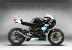Spirit of The Seventies' take on a custom Triumph 675. Can't wait to see this transformed into metal.