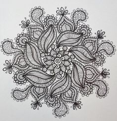 ZEN Mandalas Coloring Book Zen Tangle style Art by ChubbyMermaid