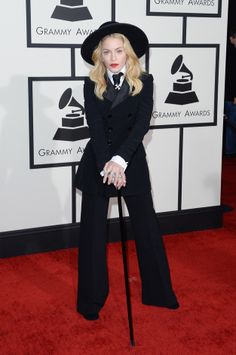 Madonna in Ralph Lauren Grammys 2014 - (I have a 1970's vintage pattern of this suit from Yves Saint Laurent)