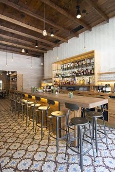 Meadowsweet in Williamsburg, Brooklyn, New York. We built and installed the concrete bar.