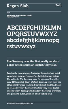 Regan Slab - Typeface by Jonathan Hill (The Northern Block)