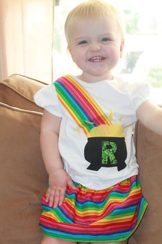 Children's ClothingRainbow and a Pot of Gold by girliebowsgalore, $25.00