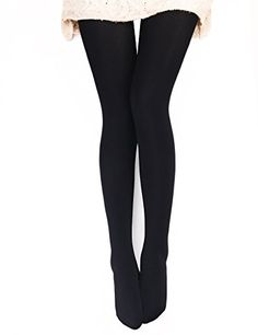 VERO MONTE 1 Pair Womens Opaque Warm Fleece Lined Tights BLACK 460121 ** See this great product. (This is an affiliate link) #FashionSocksandHosiery
