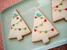 Bunting Tree Cookies